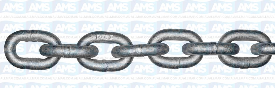 ISO High Test Carbon Steel Chain - 3/8 inch 400ft