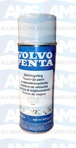 "Volvo Penta Engine 'Touch-Up' Spray Paint (Grey  ""DG"") 400ml"