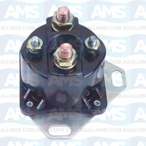 12 Volt, 4-Terminal, Isolated Base Solenoid, Fits Merc 89-76416A1,  OMC 985064,