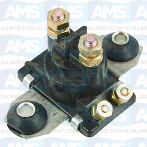 12 Volt, 4-Terminal, Isolated Base Solenoid, Fits Merc 89-818999A1,