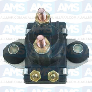 12 Volt, 4-Terminal, Grounded Base Solenoid Fits Merc 89-818997A1,