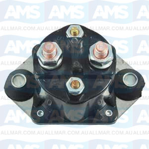 12 Volt, 4-Terminal, Isolated Base Solenoid, Fits Merc 89-817109A2