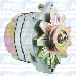 61 Amp/12 Volt, CW, 1-Groove Pulley, 1-Wire System Fits Mercury, OMC, Volvo 78477