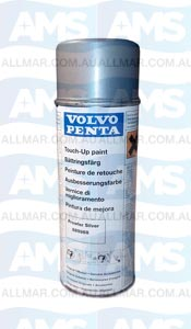 """Volvo Penta Engine 'Touch-Up' Spray Paint (Prowler Silver - """"DG DPH Drive Paint"""") 400ml"""