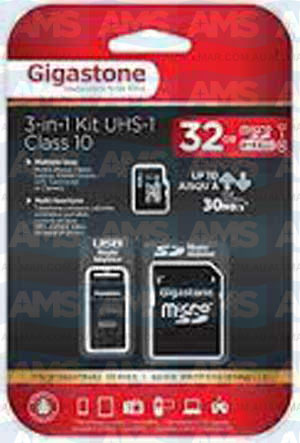 Gigastone 32GB 3 in 1 Micro SD Card