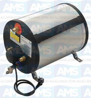 Boat Boiler Cylindrical 22L Stainless Steel  1200W,  Suitable for horizontal or vertical installation.