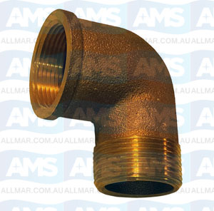 Bronze M/F Elbow 90 Deg 1 1/2""