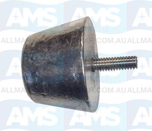 50mm(W) x 30mm(H) Anode with 25mm 5/16 UNC Stud