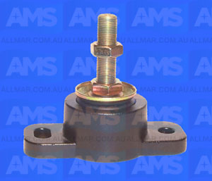 """Alloy Engine Mount 3/4 Threads - 2 3/8"""" Clearance 4 And 6 Cyclinder Up To 1200Lbs"""