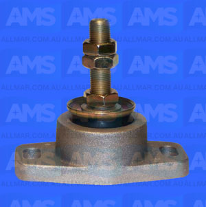 "Alloy Engine Mount 5/8 Threads - 2 3/8"" Clearance 4"" Hole Centres 750Lbs"