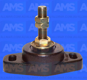 "Alloy Engine Mount 3/4 Threads - 2 5/8"" Clearance 5"" Hole Centres 1800Lbs"