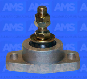 "Alloy Engine Mount 3/4 Threads - 2 7/8"" Clearance 4 1/2"" Hole Centres 1,000Lbs"