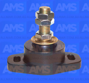 "Alloy Engine Mount 1' Threads - 3 3/8"" Clearance 5"" Hole Centres 2,200Lbs"