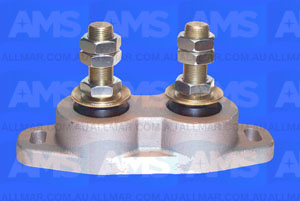 "Alloy Engine Mount Twin Stud 1' Threads - 3 3/8"" Clearance 9"" Hole Centres 5,600 Lbs"