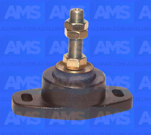 "Alloy Engine Mount 3/4' Threads - 3"" Clearance 5"" Hole Centres 1,600Lbs"
