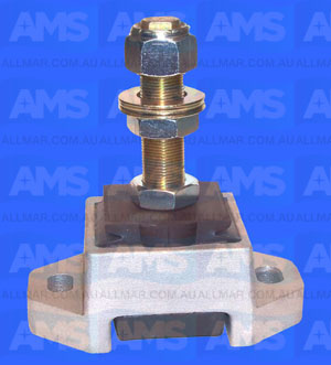 "Alloy Engine Mount 1' Threads - 3 1/2"" Clearance 5"" Hole Centres 2,400Lbs"