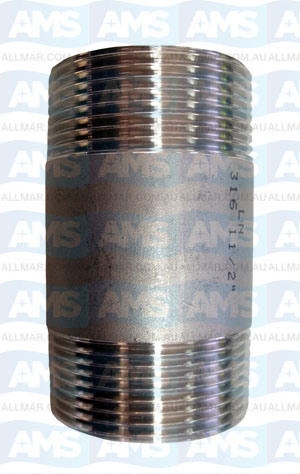 316 Stainless Barrel Nipple 3/8""