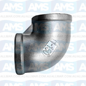 316 Stainless F/F Elbow 90Deg, 2 1/2""