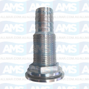 316 StainlessSkin Fitting Hose Tail 2""