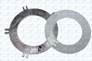 """2""""/2.5"""" Clear Lid kit (Retaining Ring & Poly Disc)"""