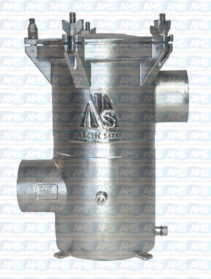 """2.5"""" BSP Thread SISO Strainer with Solid Lid"""